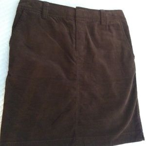LILLY PULITZER BROWN CORDUROY SKIRT SIZE O